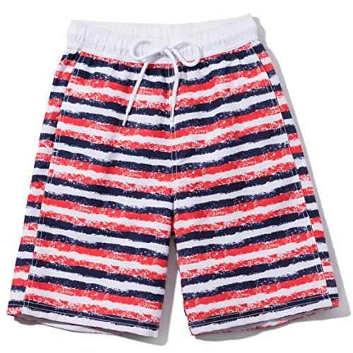 TSLA Boy's Swimtrunks Quick Dry Board Shorts Water Beach Board Shorts Bottom, Graphic(bsb45) - America, 2X-Small (4)