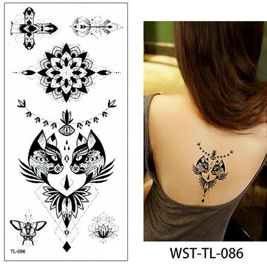 adgkitb 4 Piezas Hoja Mujeres Esternón Joyas Tatuaje Temporal ...