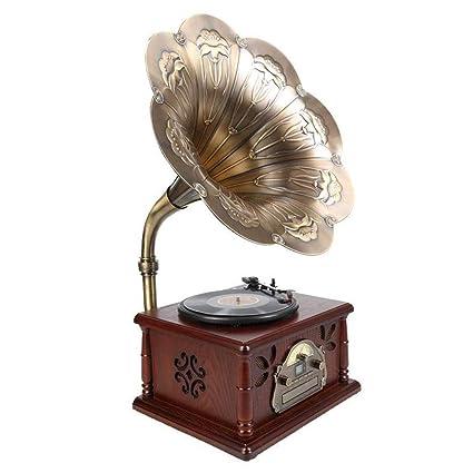 LVSSY-Tocadiscos de Vinilo Vintage Tocadiscos Bluetooth ...