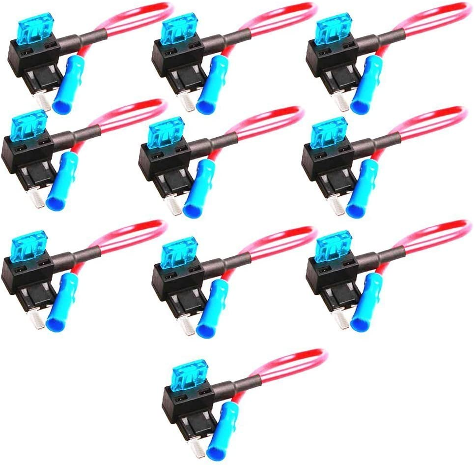 Mintice/™ 10 X Car Vehicle 12v 24v Car Add-a-circuit Fuse ACN TAP Adapter Low Profile Blade Style Fuse Holder Plug