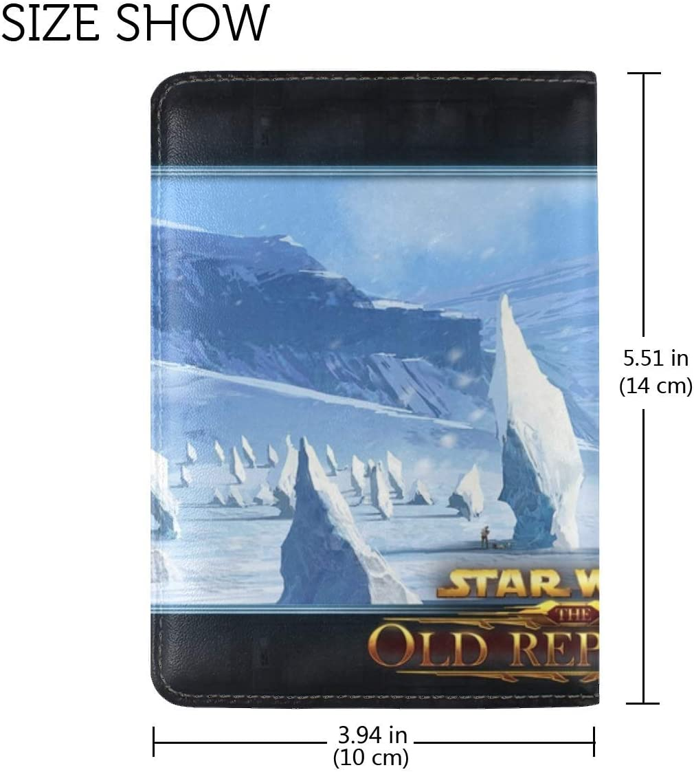 Star Wars The Old Republic Cold Snow Mountains Leather Passport Holder Cover Case Travel One Pocket