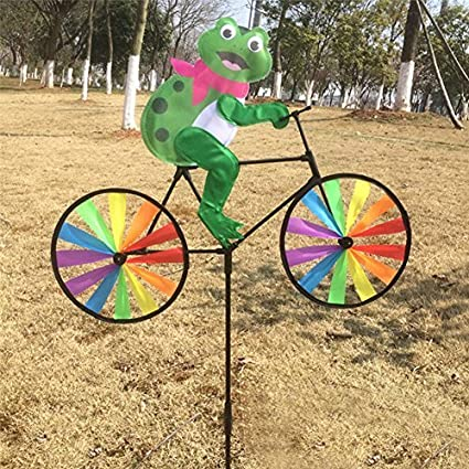 Delicieux BCHZ Colorful Animal On Bike Windmill, Garden/Lawn/Yard Decor
