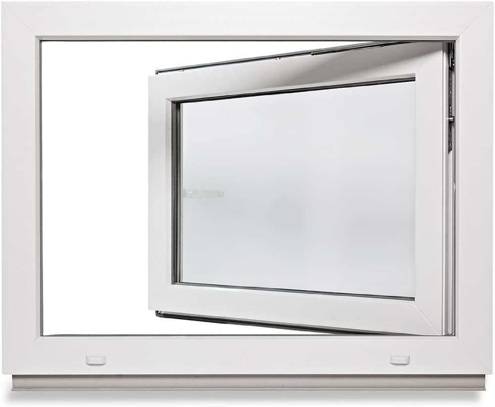 verschiedene Ma/ße 60mm Profil 3-fach-Verglasung Kellerfenster wei/ß LAGERWARE Fenster DIN rechts BxH: 90x40 cm Kunststoff