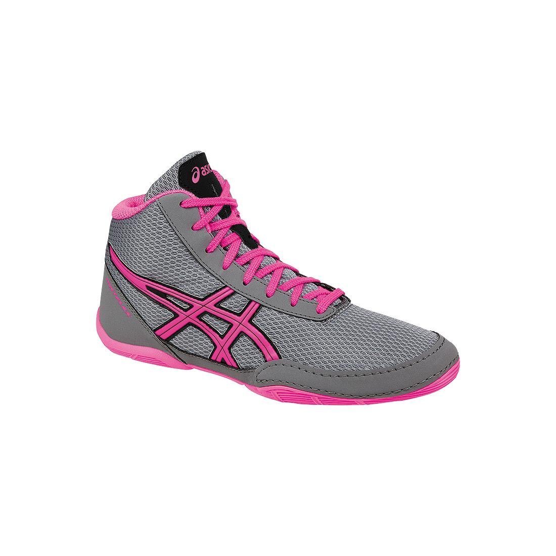ASICS Matflex 5 GS Skate Shoe (Little Kid/Big Kid), Aluminum/Hot Pink/Black, 11