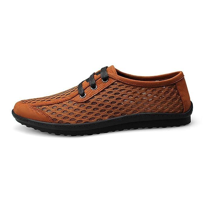 Shenn Hombre Respirable Lazada Comodidad Casual Sintético Moda Zapatillas Zapatos 702: Amazon.es: Zapatos y complementos