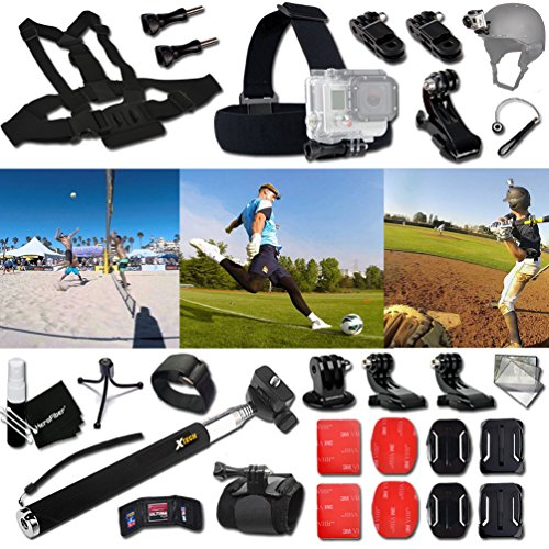 xtech-baseball-accessories-kit-for-gopro-hero-4-3-3-2-1-hero4-hero3-hero2-hero-4-silver-hero-4-black