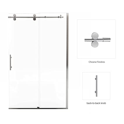 Frameless Rolling Glass Shower Doors.Fab Glass And Mirror Vinesse Lux Frameless Rolling Door With