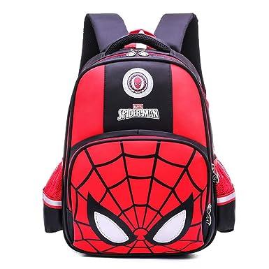 Mochila Escolar Para Niños Mochilas Para Adolescentes Spider-Man Para Niños Y Niñas Mochilas Escolares,Black-43 * 32 * 16cm: Amazon.es: Ropa y accesorios