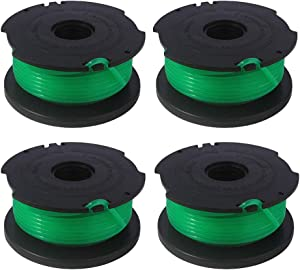 Sdoveb Trimmer Spool Replacement for Black and Decker SF-080 GH3000 LST540 Weed Eater, 20ft 0.080 inch GH3000R LST540B Edger Refills Line, Auto-Feed Single Line Parts Trimmers Line Cord (4PCS)