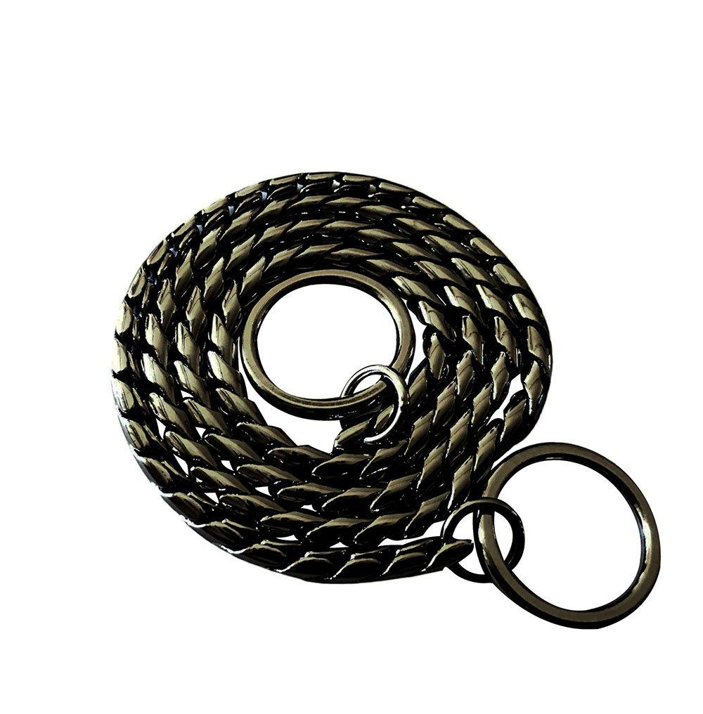 Black 26\ Black 26\ DYBEN Pet Training Snake P Chain Dog Choke Collar,Black,26