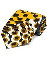 TieMart Men's African Animal Print Necktie