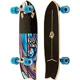 Flow Surf Skates Stub 29' Surf Skateboard with Carving Truck, Multi-Color