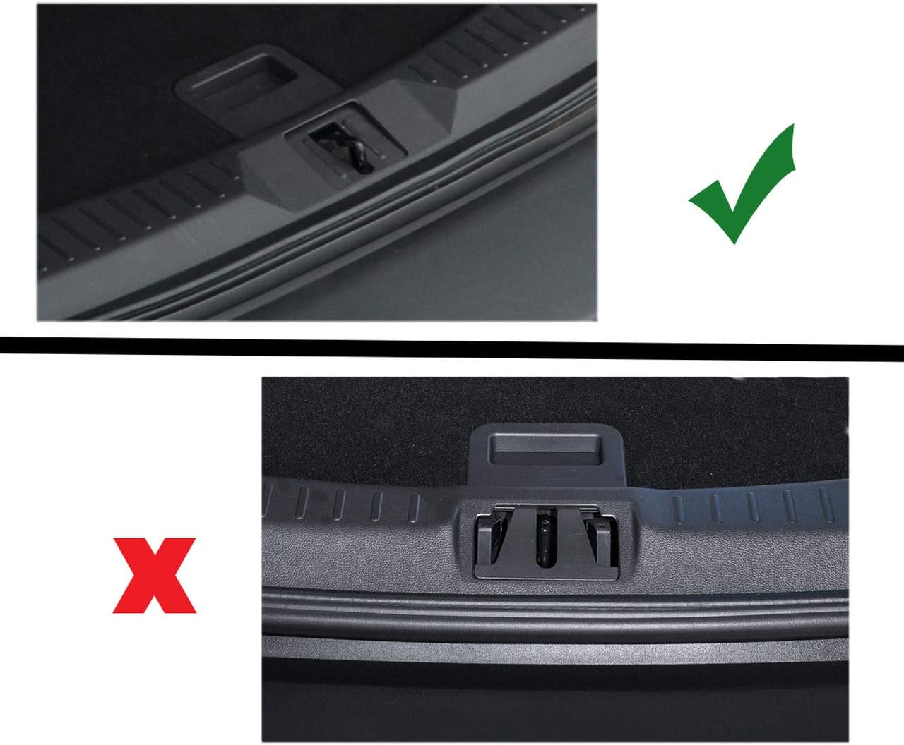 2013-16 Black Chrome Rear Bumper Sill Protector To Fit Kuga