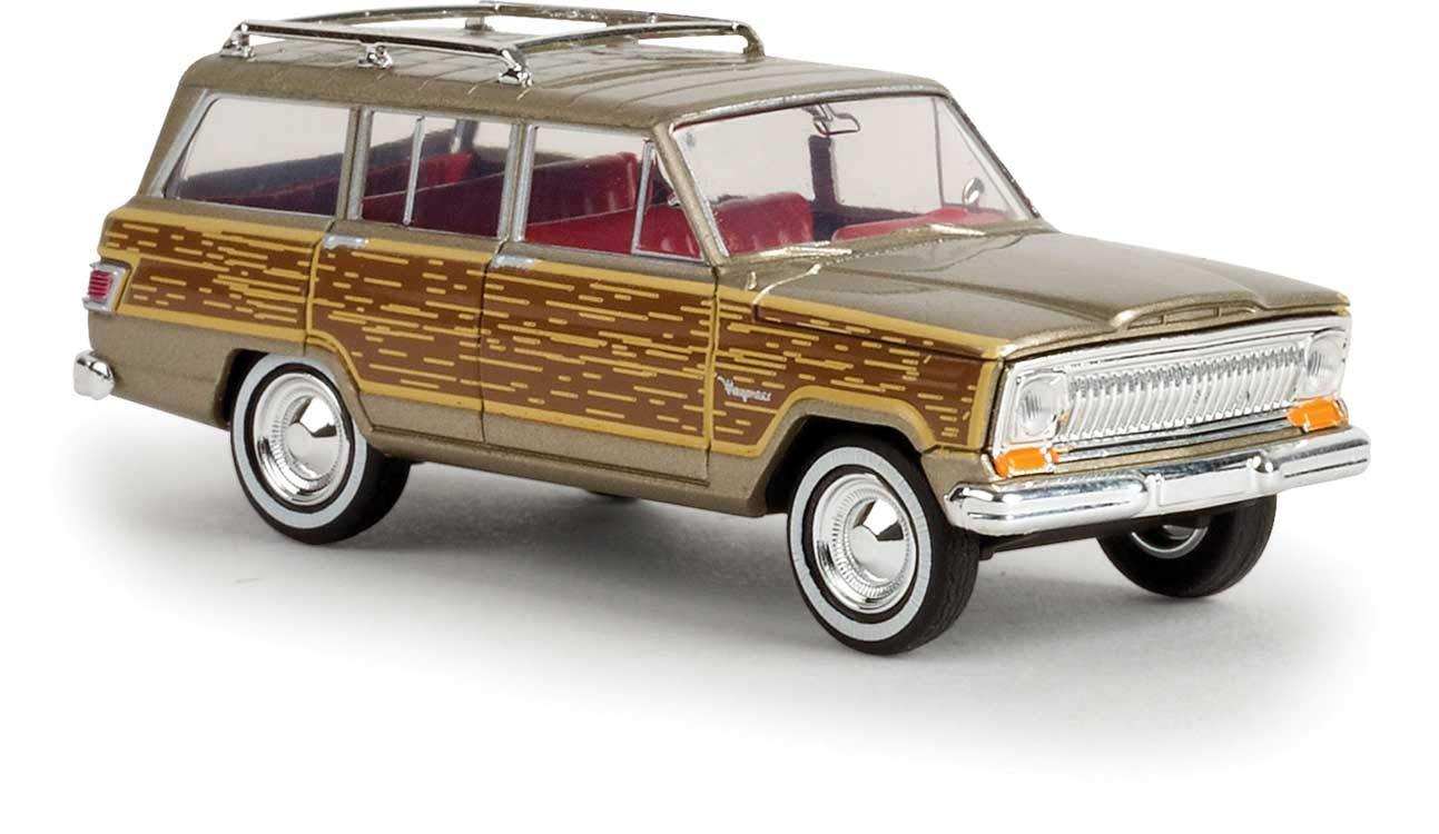 1967 ジープ ワゴニア ゴールド ウッディサイド付き 1/87 B0742HGZNS