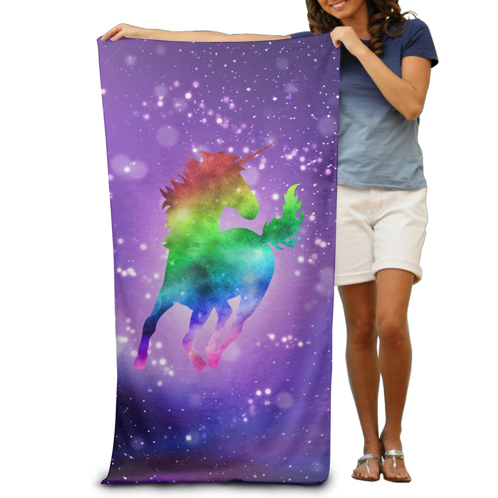 Rainbow Galaxy Unicorn Bath Towels Beach Towels Swim Towels Adults Soft Absorbent