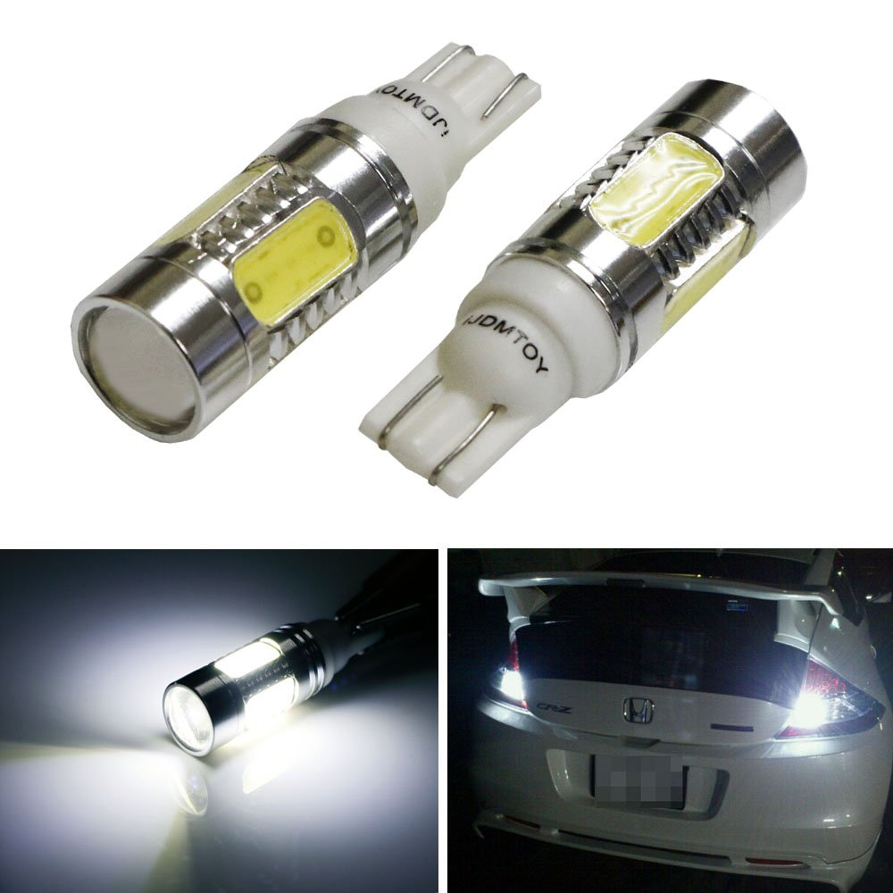 2005 2009 ford mustang 2x hid white 921 led reverse light bulb backup - Amazon Com Ijdmtoy Extremely Bright 7 5w High Power 912 921 906 Projector Led Reverse Light Bulbs Xenon White Automotive