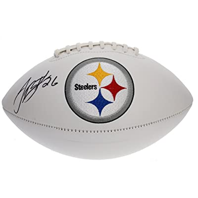 7dc72b6e225 Le Veon Bell Autographed Pittsburgh Steelers White Panel Football - JSA  Certified Authentic