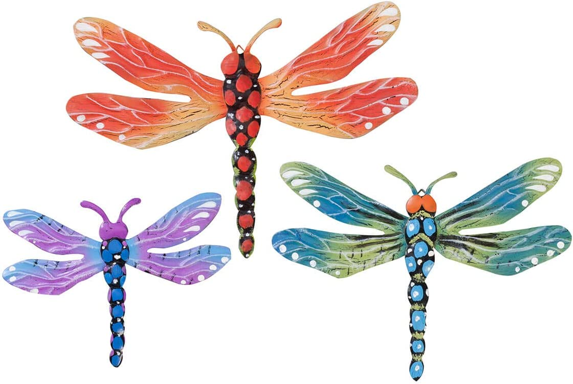 Metal Dragonfly Plaques Set of 3 by Fox River CreationsTM