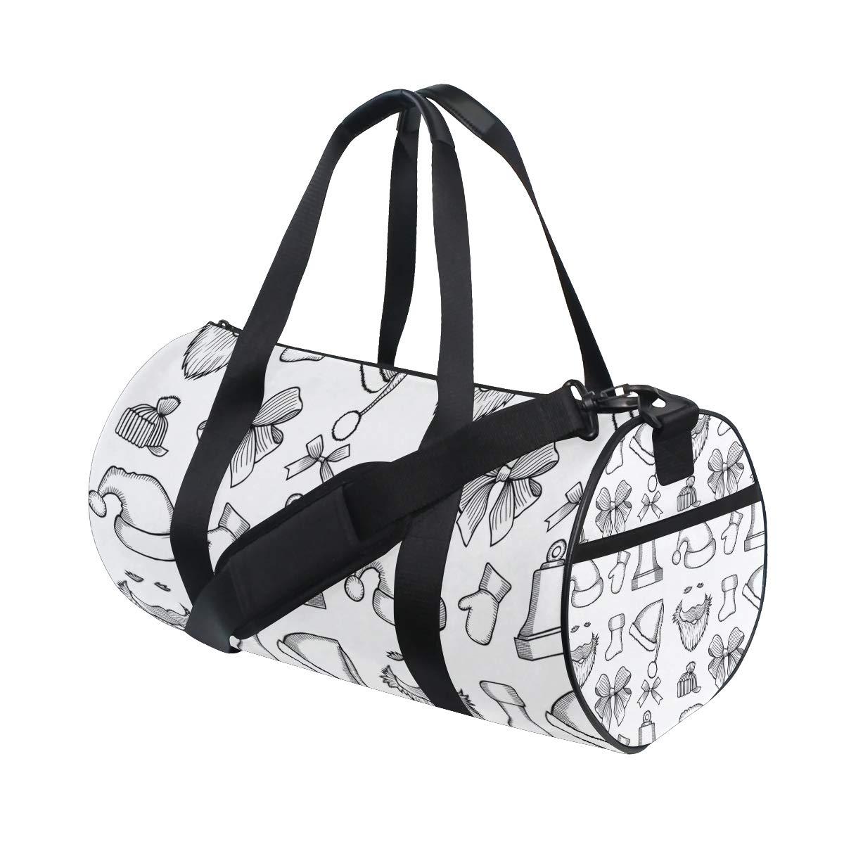 Waterproof Shoulder Bag. Santa Claus Black And White Movie Popular casual fitness bag,Non-Slip Wearable Crossbody Bag