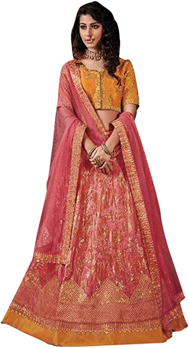 Indian Lehenga Set Heavy Skirt Vintage Embroidered Wedding Party Dress Designer Chaniya Choli Ethnic Traditional Bollywood Woman HLS1089
