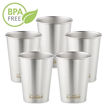 4cffd96709e Image Unavailable. Image not available for. Color: Stainless Steel Pint Cup  ...