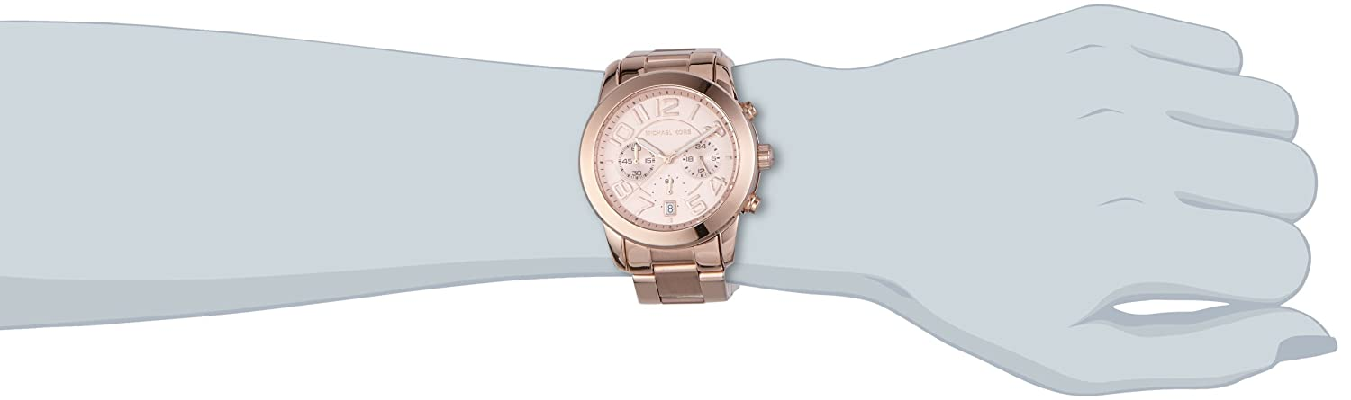 d9b2bc5c06ba Amazon.com  Michael Kors MK5727 Women s Mercer Rose Gold-Tone Stainless  Steel Bracelet Chronograph Watch  Michael Kors  Watches