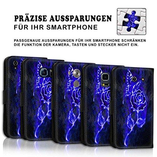 Wallet Book Style Flip Handy Tasche Case Schutz Hülle Schale Motiv Etui für Apple iPhone 6 Plus / 6S Plus - Design Flip MVD418