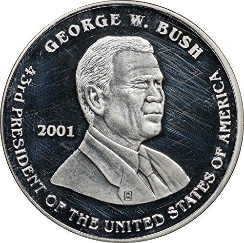 2001 George Bush & Al Gore Presidential Referendum Two-Headed 1 oz Silver 1oz Brilliant Uncirculated