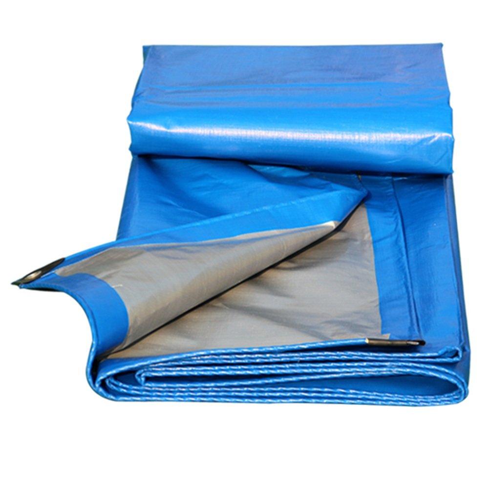 PENGFEI オーニング 防水 雨布 シェード 日焼け止め トラック 貨物 シェッドクロス 絶縁 耐腐食性、 ブルー+グレー、 ポリエチレン、 12サイズのオプション ( 色 : 青 , サイズ さいず : 4x6M ) B07CCZVQZR  青 4x6M
