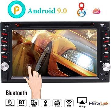 Android estéreo 9.0 navegación del Coche con Bluetooth Doble DIN Radio de Coche en el Tablero