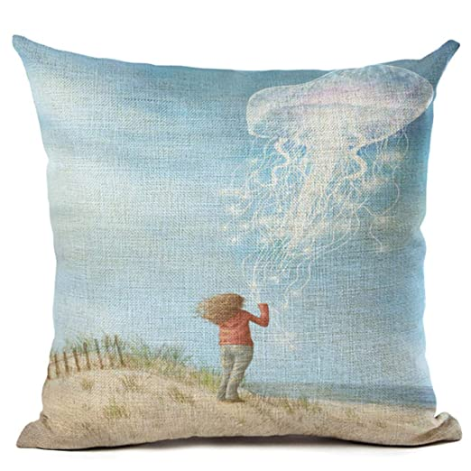 TKGJJ Fundas para Cojines,Throw Pillow,Pillow Case,Dibujos ...