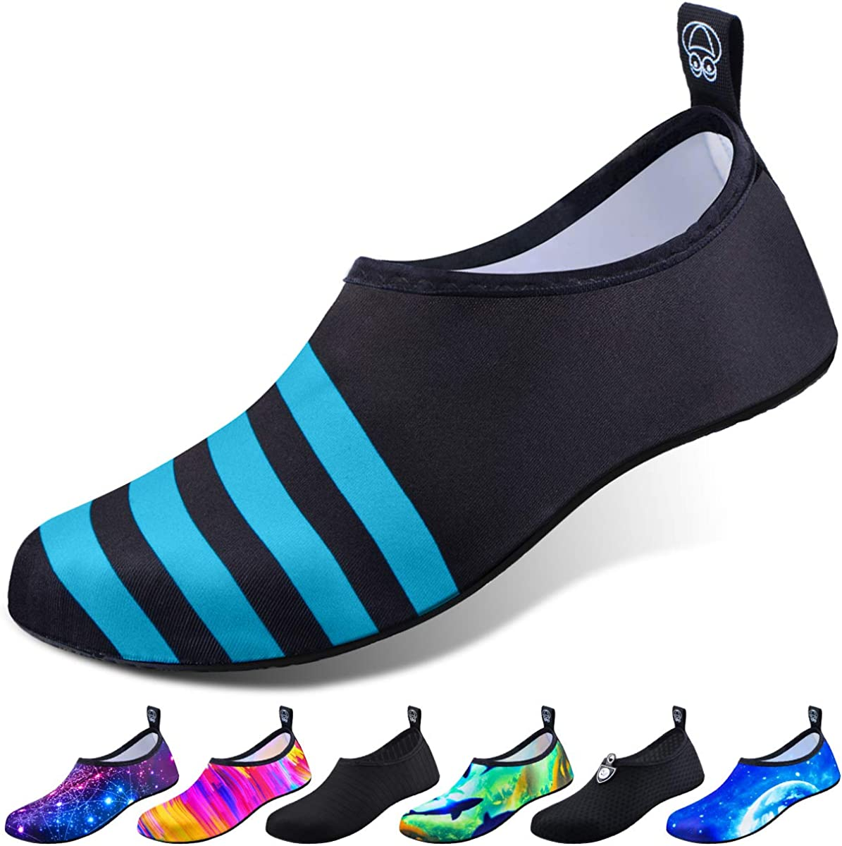 Quick-Dry Aqua Socks Swim Beach Womens Mens Shoes for Outdoor Surfing Yoga Exercise with Waterproof Mobile Phone Bag DigiHero Water Shoes for Women and Men
