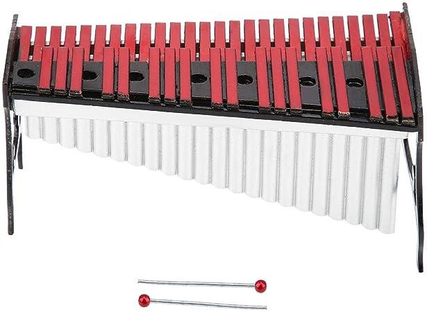 Hztyyier Instrumento Musical en Miniatura Adornos de Madera Modelo xilófono con Estuche Negro para exhibición de decoración de Sala de Estar en el hogar: Amazon.es: Hogar