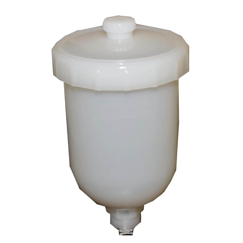 Gravity Feed Spray Paint Plastic Paint Cup Pot 250ml Capacity M14 Female Thread AB Tools