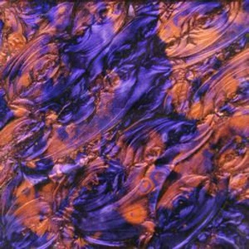 (8x10 Van Gogh Violet / Copper Stained Glass Sheet 3mm)
