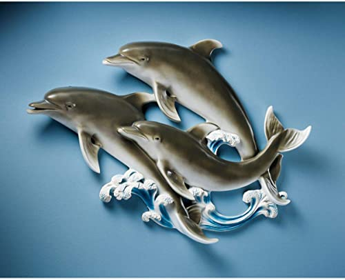 Design Toscano KY102 The Good Seas Dolphin Wall Sculpture,Full Color