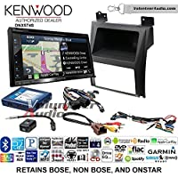 Volunteer Audio Kenwood DNX574S Double Din Radio Install Kit with GPS Navigation Apple CarPlay Android Auto Fits 2007-2014 Cadillac Escalade