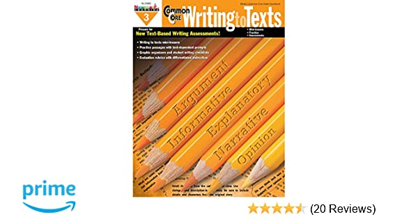 Newmark Learning Grade 3 Common Core Writing to Text Book