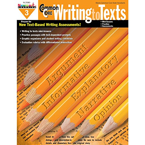 - Newmark Learning Grade 3 Common Core Writing to Text Book (CC Writing)