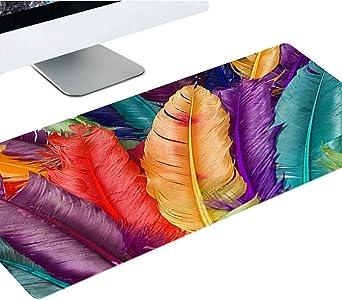 Suaver Gaming Mauspad 900 X 400 X 2 Mm Extended Mousepad Office Tischunterlage Groß Mit Gel Rubber Xxl Mousepad Rutschfeste Gummi Boden Mit Genähte Kanten Schwarz Beleuchtung