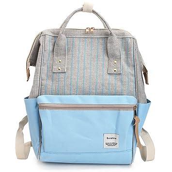 Casual Mujer Escolar Mochila de Viaje Niñas Adolescentes Universidad Bolsa de Hombro Moda Retro 15.6 Laptop Outdoor Bolsa Azul Claro: Amazon.es: Equipaje