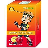 TEKXYZ - Pelota de boxeo para desarrollar reflejos. 2/3/4 diferentes bolas de boxeo con diadema, más suaves que las…