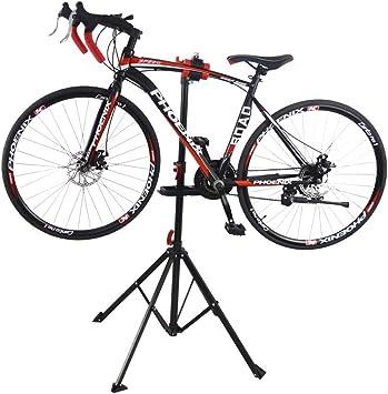 Soporte de reparación Bicicletas Plegable Portátil, Soportes Abrazadera Soporte Piezas Bicicleta 4 Patas Accesorios Herramientas montaña Ajustable Interior: Amazon.es: Deportes y aire libre