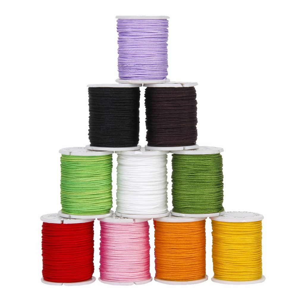Tinksky 10 Colors 0.8mm Nylon Hand Knitting Cord String Beading Thread for DIY Jewellery Making 4336807086