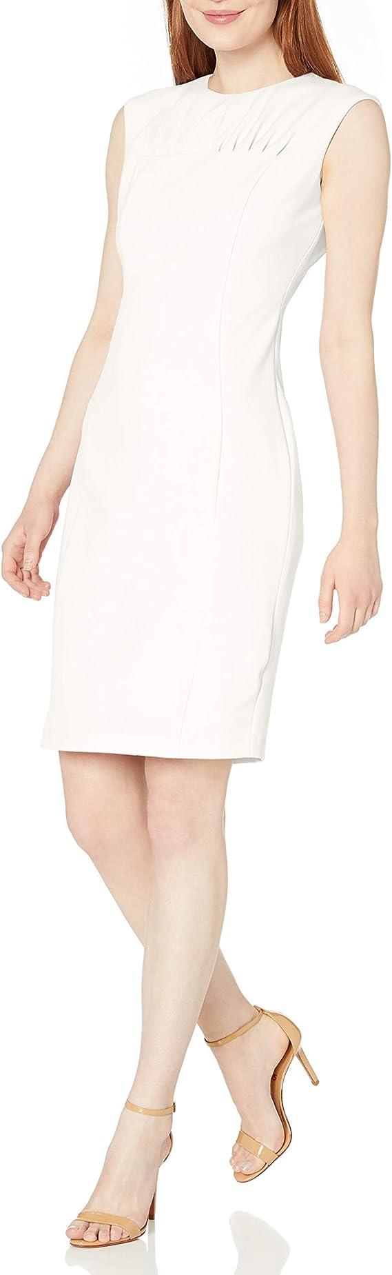 Calvin Klein 卡尔文克莱因 CK 女式无袖连衣裙 4码2.1折$27.45 海淘转运到手约¥212