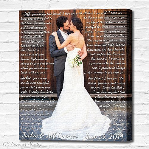 Amazoncom Wedding Lyrics Photo Custom Canvas Print First Dance