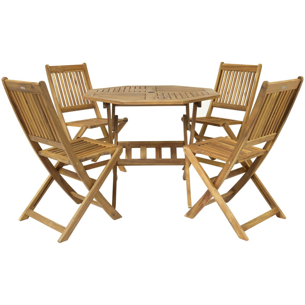 Charles Bentley Garden Wooden Furniture Patio Octagonal Table   4 Chairs  5Pc Set  Amazon co uk  Garden   Outdoors. Charles Bentley Garden Wooden Furniture Patio Octagonal Table   4