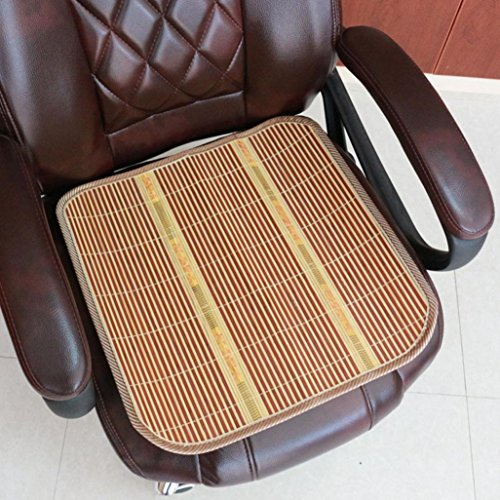 """Price comparison product image Summer Seat cover Cool Bamboo Mat for Car Home Office Chair Cushion 16"""" GOTD (Beige)"""