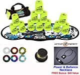 Speed Stacks Combo Set ''The Works'': 12 NEON YELLOW 4'' Cups, REBEL MUDD Gen 3 Mat, G4 Pro Timer, Cup Keeper, Stem, Gear Bag, 6 Snap Tops + Active Energy Necklace