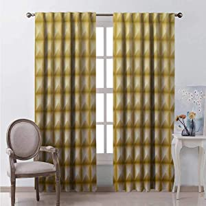 Flyerer Solid Geometry Texture Pattern 9 Curtains rods for Living Room Easy to Install Only Your Style Choice W84xL96 Great for Living Room and Bedroom